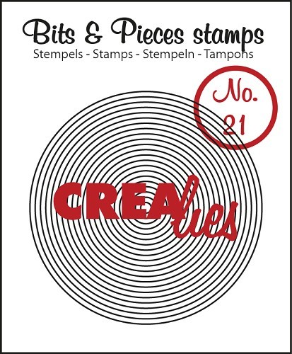 Crealies - Clearstamp - Bits & Pieces - No. 21 - Circles in circle - CLBP21