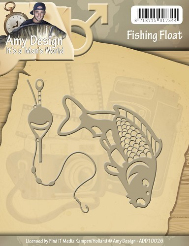 Card Deco - Amy Design - Die - It`s a Man`s World - Fishing Float