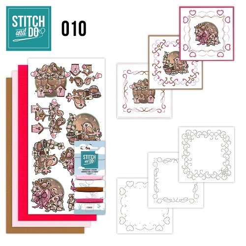 Card Deco - Kaartenpakket - Stitch & Do No. 10 - Moederdag - STDO010