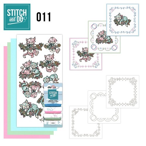 Card Deco - Kaartenpakket - Stitch & Do No. 11 - Katjes - STDO011