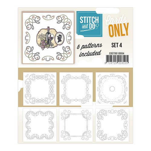 Card Deco - Stitch & Do - Oplegkaarten - Cards only - Set 4 - COSTDO10004