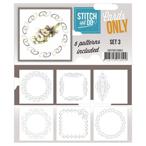 Card Deco - Stitch & Do - Oplegkaarten - Cards only - Set 3 - COSTDO10003
