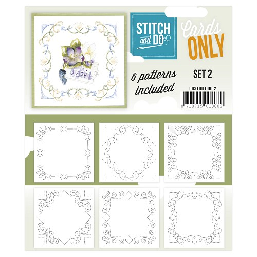Card Deco - Stitch & Do - Oplegkaarten - Cards only - Set 2 - COSTDO10002