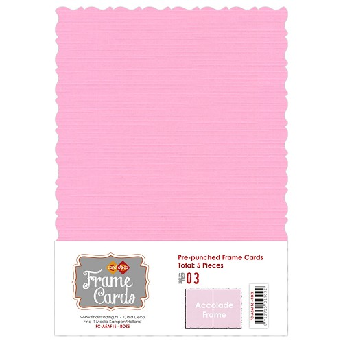 Card Deco - Frame Cards - Accolade - A5: Roze - FC-A51000316