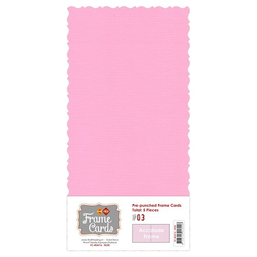 Card Deco - Frame Cards - Accolade - Vierkant: Roze - FC4K1000316