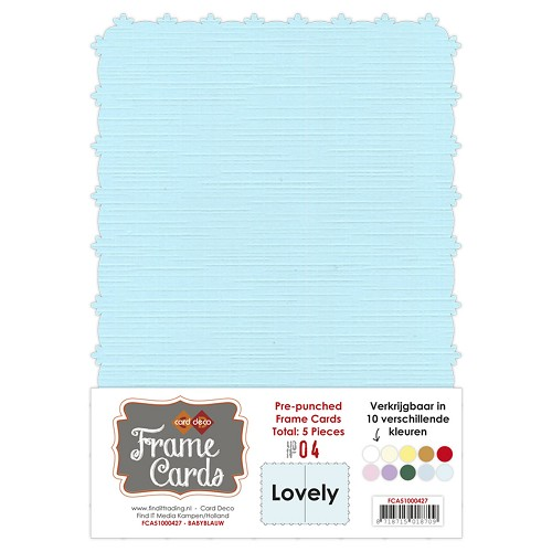 Card Deco - Frame Cards - Lovely - A5: Babyblauw - FCA51000427