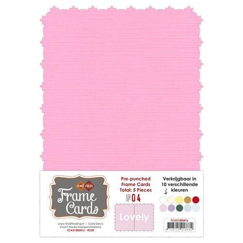 Card Deco - Frame Cards - Lovely - A5: Roze - FCA51000416
