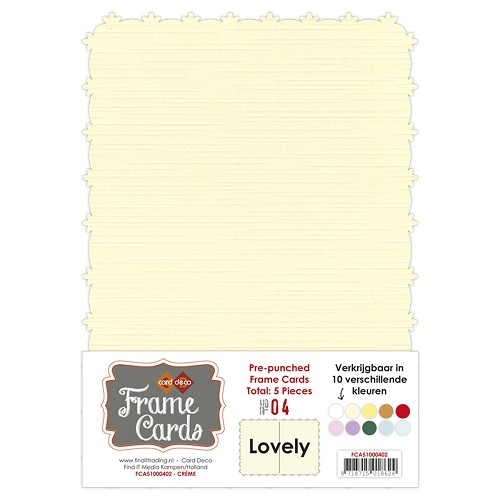 Card Deco - Frame Cards - Lovely - A5: Creme - FCA51000402