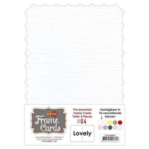 Card Deco - Frame Cards - Lovely - A5 - Wit - FCA51000401