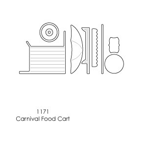 Memory box - Poppystamp - Die - Carnival Food Cart