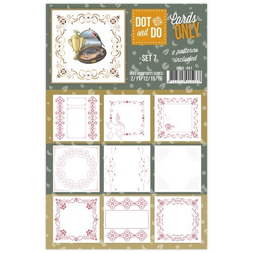 Card Deco - Oplegkaarten - Dot & Do - Cards Only - Set 7