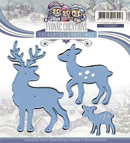 Yvonne Creations - Die - Colourful Christmas - Reindeer - YCD10029