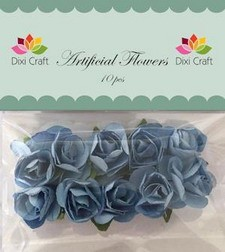 Dixi Craft - Artificial Flowers - Rozen: Blauw - AF002