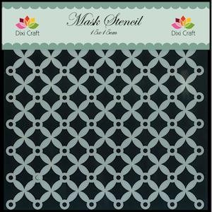 Dixi Craft - Maskingstencil - Cirkel fantasie - MS003
