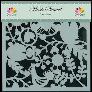 Dixi Craft - Maskingstencil - Uil - MS001