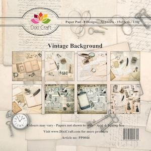 Dixi Craft - Paperpack - Vintage Background - PP0044