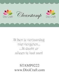 Dixi Craft - Clearstamp - Tekst (NL) - STAMP0222