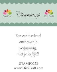 Dixi Craft - Clearstamp - Tekst (NL) - STAMP0223