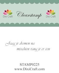 Dixi Craft - Clearstamp - Tekst (NL) - STAMP0225
