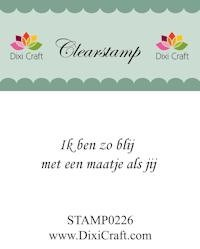 Dixi Craft - Clearstamp - Tekst (NL) - STAMP0226