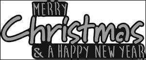 Marianne Design - Die - Craftables - Merry Christmas - CR1327