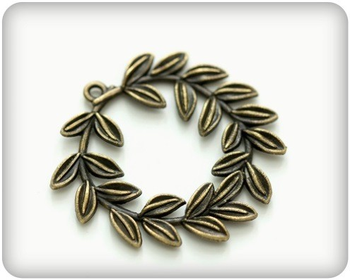 ScrapBerry`s - Bedeltje - Laurel Wreath - SCB250116179b