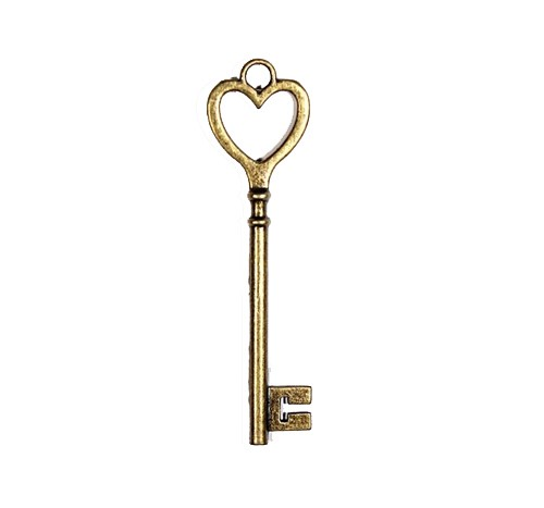 ScrapBerry`s - Bedeltje - Key with the Heart - SCB25013689