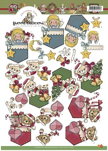 Yvonne Creations - 3D-knipvel A4 - Christmas Time - CD10167