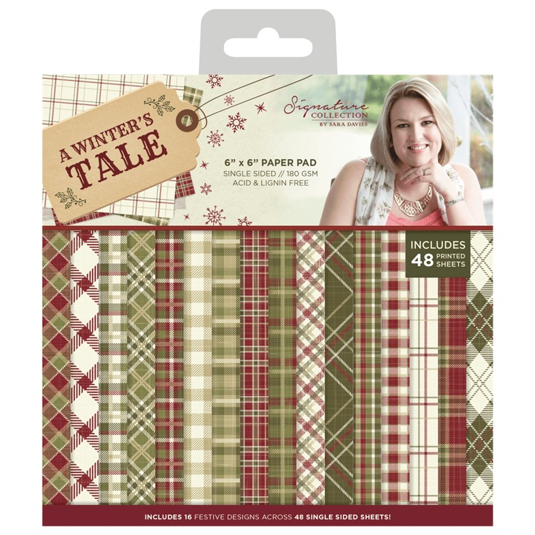 Crafter`s Companion - Sara Davies - Paperpack - A Winter`s Tale - S-AWT-PAD6