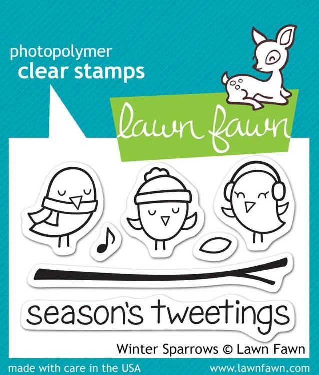 Lawn Fawn - Clearstamps - Winter Sparrows - LF565