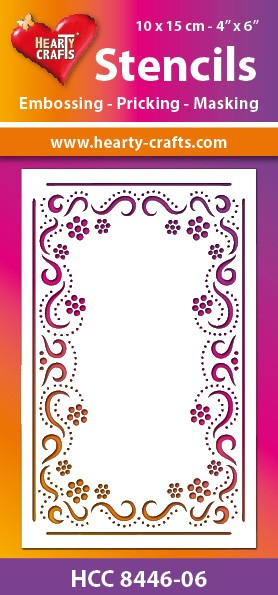 Hearty Crafts - Maskingstencil - Flower Ornament - HCC8446-06