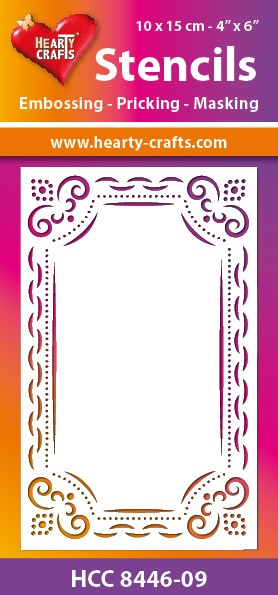 Hearty Crafts - Maskingstencil - Happy Frame - HCC8446-09
