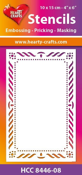 Hearty Crafts - Maskingstencil - Elegant Frame - HCC8446-08