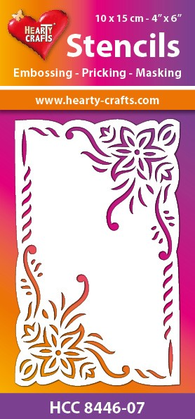 Hearty Crafts - Maskingstencil - Flower Corner - HCC8446-07