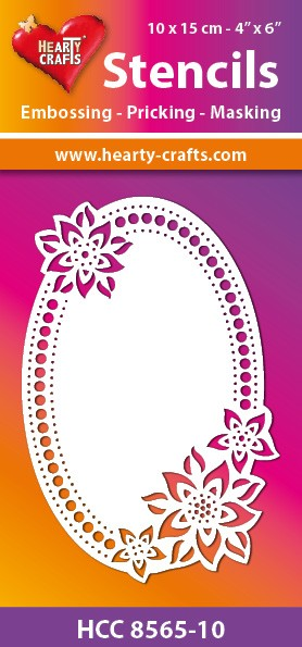 Hearty Crafts - Maskingstencil - Flower Oval