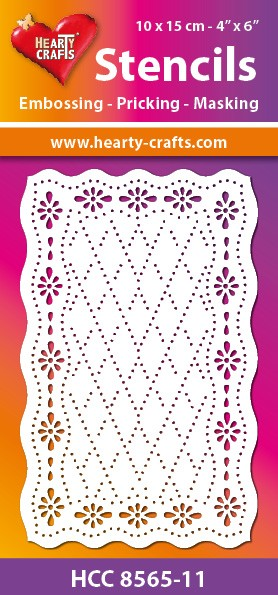 Hearty Crafts - Maskingstencil - Retro Squares - HCC8565-11