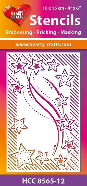 Hearty Crafts - Maskingstencil - Stars - HCC8565-12