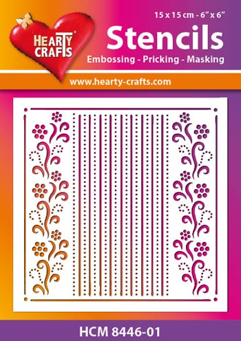 Hearty Crafts - Maskingstencil - Flower Border - HCM8446-01