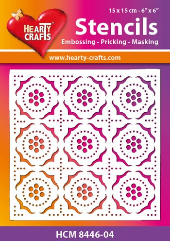 Hearty Crafts - Maskingstencil - Retro Pattern - HCM8446-04