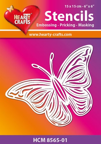 Hearty Crafts - Maskingstencil - Butterfly - HCM8565-01
