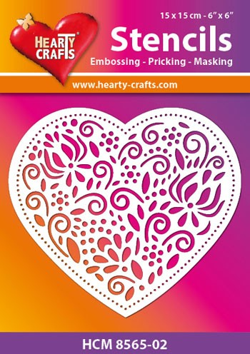 Hearty Crafts - Maskingstencil - Decoration Heart - HCM8565-02