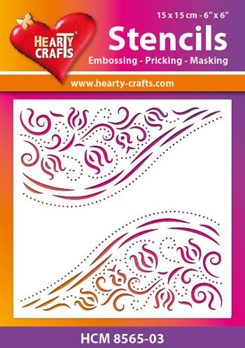 Hearty Crafts - Maskingstencil - Diagonal Ornaments - HCM8565-03