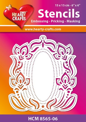 Hearty Crafts - Maskingstencil - Flower Frame - HCM8565-06