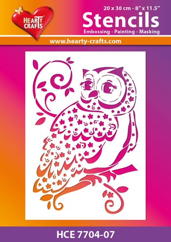 Hearty Crafts - Maskingstencil - Owl - HCE7704-07