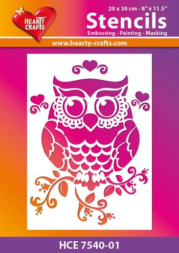 Hearty Crafts - Maskingstencil - Owl - HCE7540-01