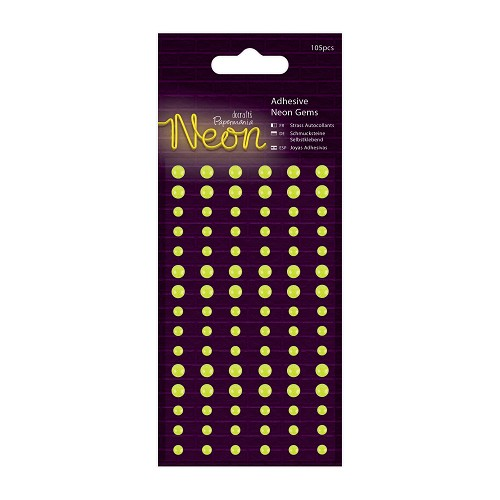 Papermania - Adhesive Gems - Neon Yellow - PMA 805121