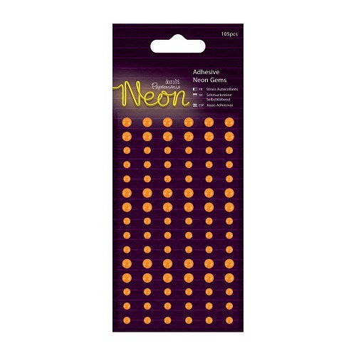 Papermania - Adhesive Gems - Neon Orange - PMA 805123