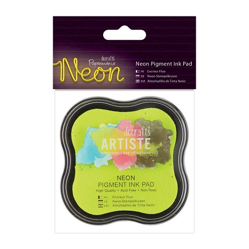 Docrafts - Artiste - Pigment Ink Pad - Neon: Yellow