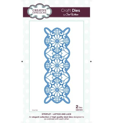 Creative Expressions - Die - The Striplet Collection - Lattice and Lace