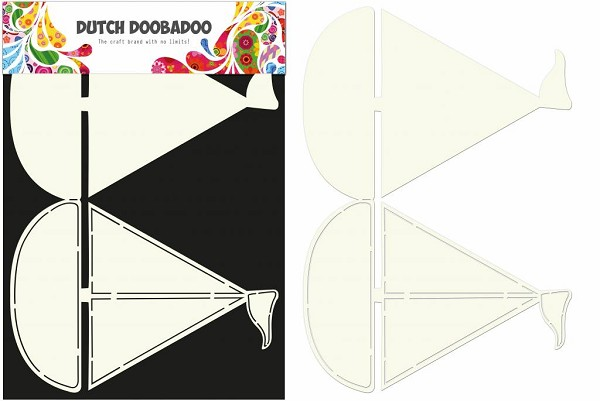 Dutch Doobadoo - Card Art - Sailboat - 470.713.509